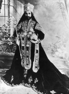 Hailé Sélassié - Roi des Rois, Seigneur des Seigneurs, Puissance de la trinité, Lion conquérant de la tribu de Juda, Lumière du Monde, élu de Dieu